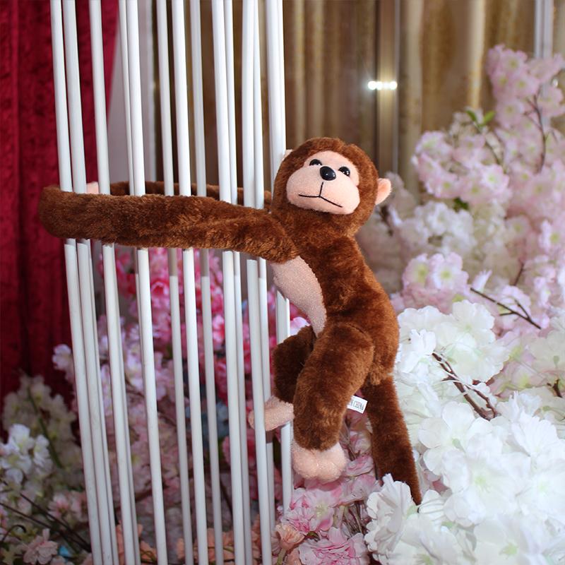 猴子毛�q玩具��意女孩生日大嘴猴新款�L臂小�可�勖阅愫镒庸�仔