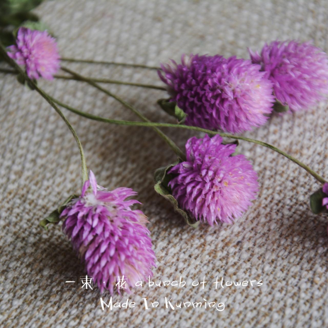Многоцветный тысяча день красный сухие цветы вечная жизнь цветок букет 5 мяч воск трейлер кольцо сухие цветы материал краткое тонкий стержень