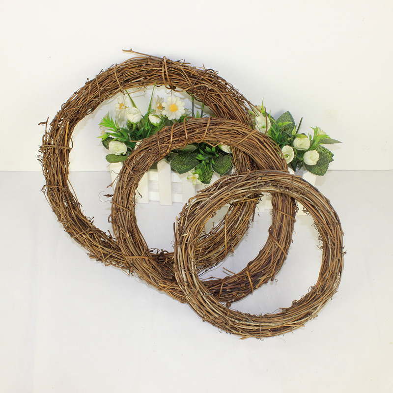 Christmas natural crafts dry branch rattan wreath DIY natural dry rattan ring Christmas Ornament / Pendant