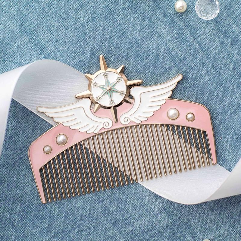ins天使网红款少女心小梳子可爱魔法梳 情人节礼物 鼠年新年礼物