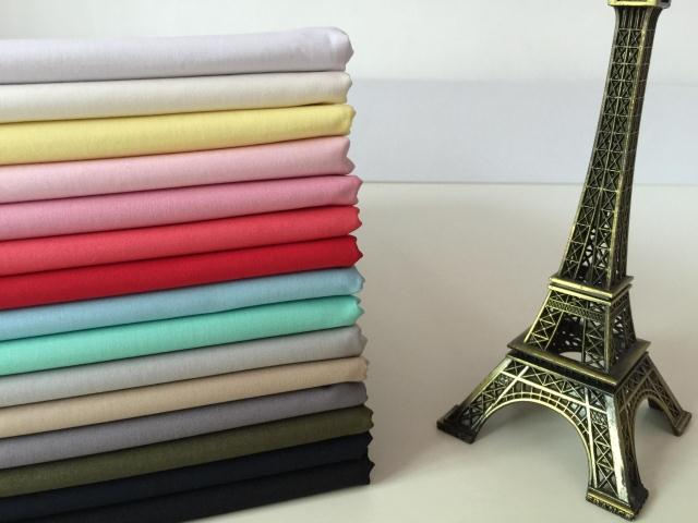 Pure cotton plain shirt fabric pure color childrens dress clothing hair accessories manual DIY fabric lining men