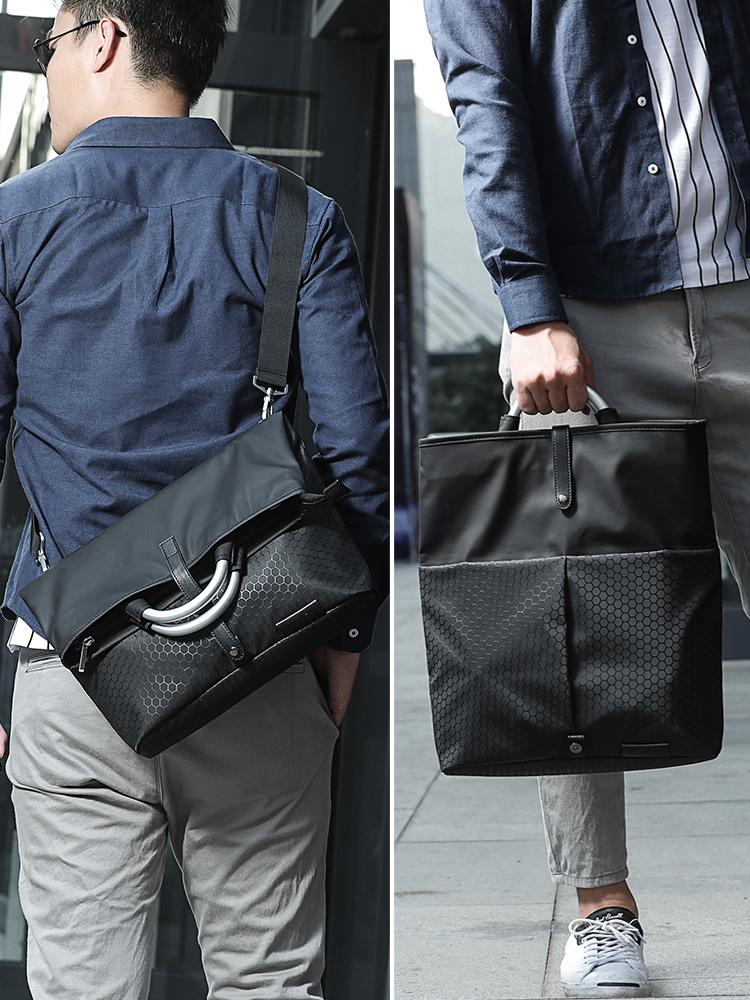 Mens backpack, single shoulder bag, Messenger Bag, canvas, leisure bag, male business bag, laptop bag, Oxford cloth