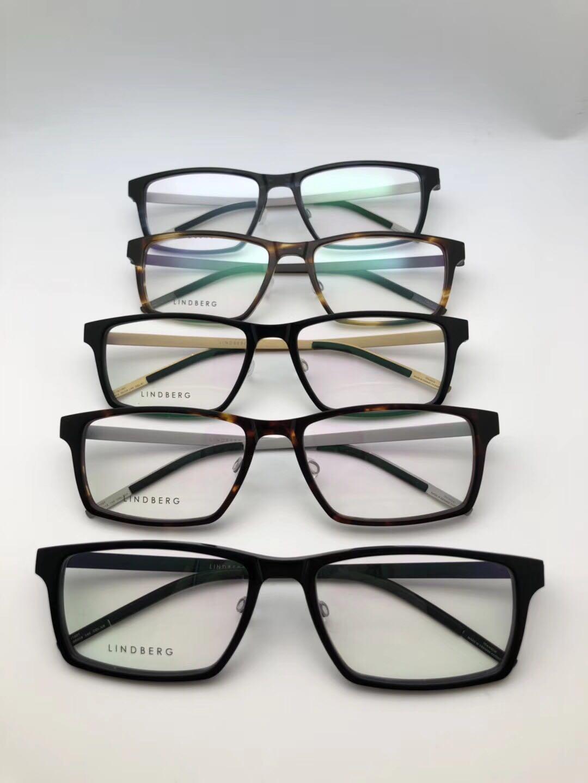 18年新款纯原超轻进口板材纯钛男女商务林德伯格近视眼镜框架