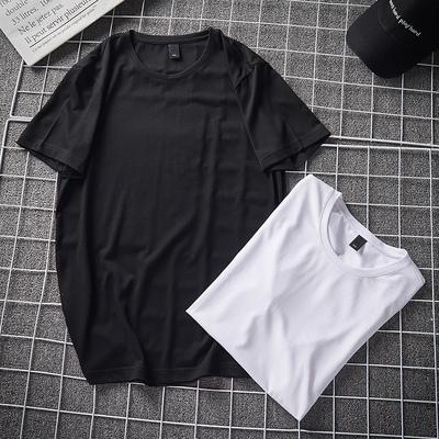爆款大货长年款光板短袖T恤丝光棉QT6019-80296P25