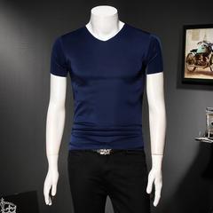 爆款夏季新款男士短袖T恤無痕冰絲假模五色可選QT6019-7608P18