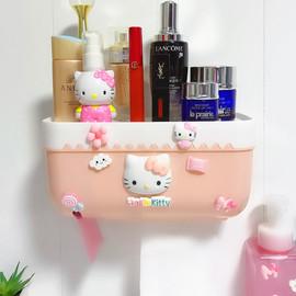 创意可爱轻奢壁挂纸巾盒卫生间壁挂式免打孔厨房抽纸盒卫生纸收纳