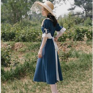 魅色 欧式宫廷少女2019新款甜美娃娃领森系田园洛丽塔学院连衣裙