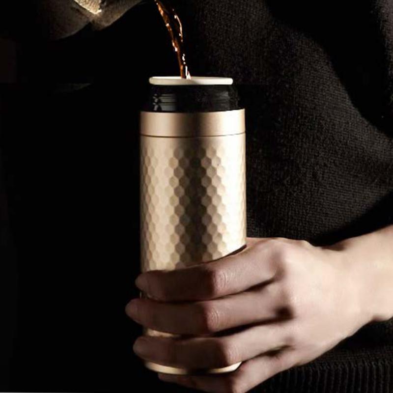 唐乾乾唐轩活瓷杯正品金石保温杯双层不锈钢带盖便携车载商务办公