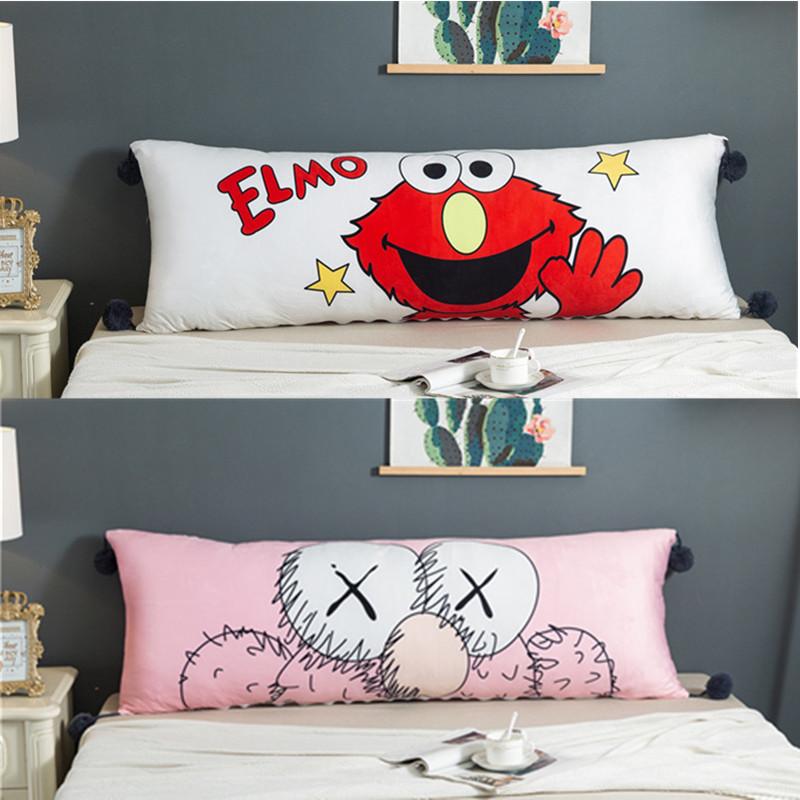 卡通睡觉长抱枕可拆洗床头靠背枕头