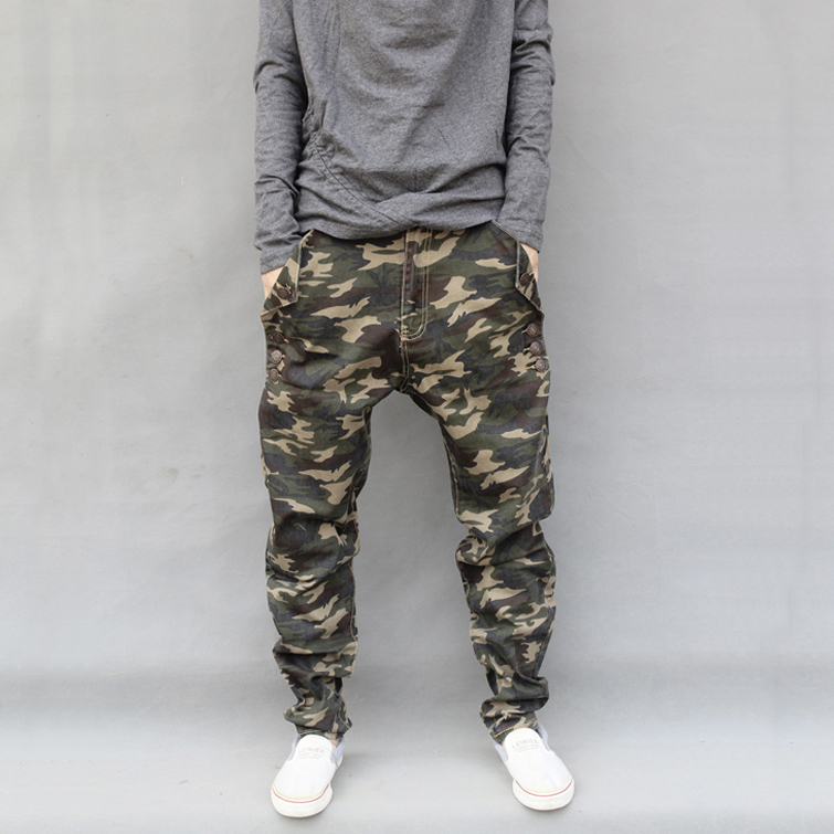 C5118 camouflage casual pants mens four seasons trend Hip Hop Pants Small foot Harun pants Street gear Hip Hop Pants