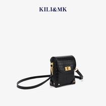 小ck包限定高级感洋气鳄鱼纹女包包2020年新款潮夏季斜挎手机小包