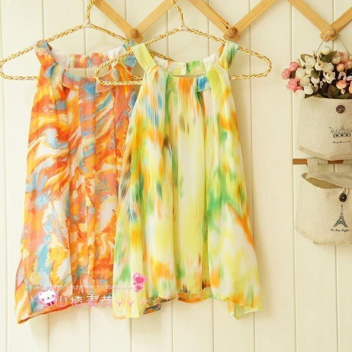 2020 summer style chiffon sunshine beach floral Pullover