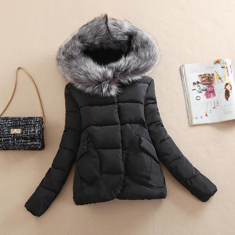 Пуховые одеяла хлопок, Женская плюс размер женщин меховым воротником вниз хлопка женщин длинный плащ a лайн версии в толстые зимние пальто