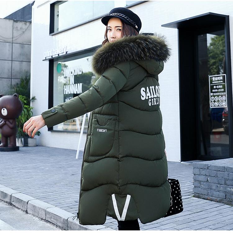 热销0件五折促销伊芙丽微微冬季新款大毛领修身加厚大码羽绒服女韩版中长款外套潮
