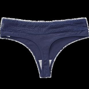 3条无痕女性感全棉蕾丝运动丁字裤
