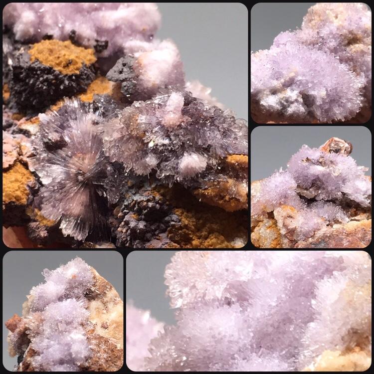 贵州紫色无色氟铝石膏天然原矿石宝石矿物晶体 教学标本地质科普