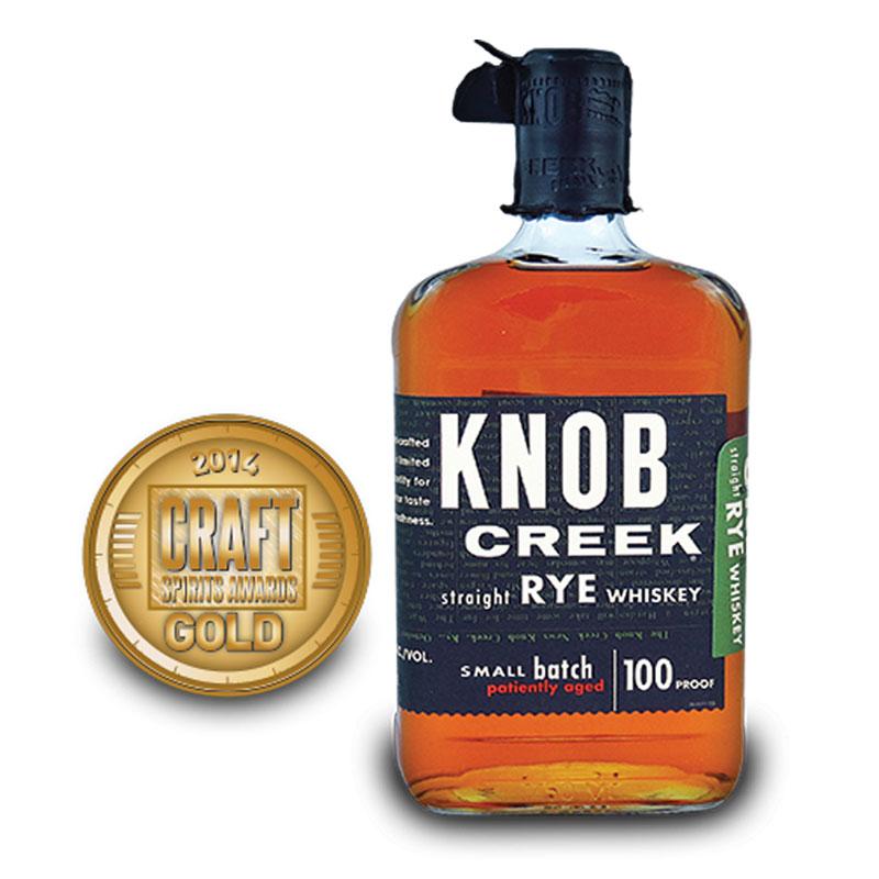 洋酒 诺布溪黑麦波本威士忌 Knob Creek Rye 50%vol 750ml 行货