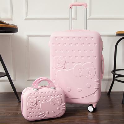 拉杆箱女24寸可爱小清新大学生超轻行李箱万向轮20寸手拉旅行箱子