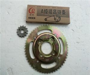 嘉陵白菜 宗申GY越野摩托车428型套链、大飞牙盘、链盘、加厚链条