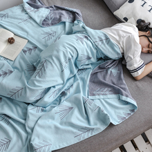 Towel quilt pure cotton single double gauze towel blanket summer ultra thin children's siesta blanket air conditioning quilt all cotton