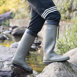 雨鞋男户外水靴防滑时尚男士高筒钓鱼雨靴水鞋女轻便插秧长筒胶鞋图片