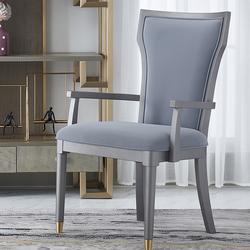 优梵艺术赫本美式轻奢餐椅靠背软包椅简约家用餐椅书房书椅