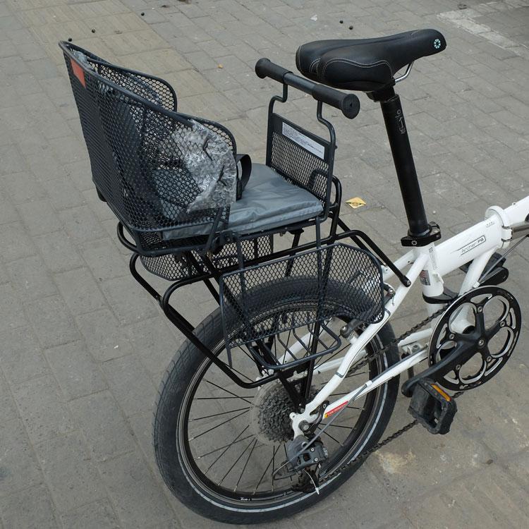 Выход япония подлинный велосипед электромобиль ребенок сидеть стул ребенок безопасность места сзади стул новый долго может корзина