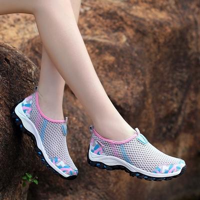Upstream shoes, women's shoes, mesh shoes, women's breathable mesh wading shoes, amphibious shoes, lightweight non-slip hiking shoes