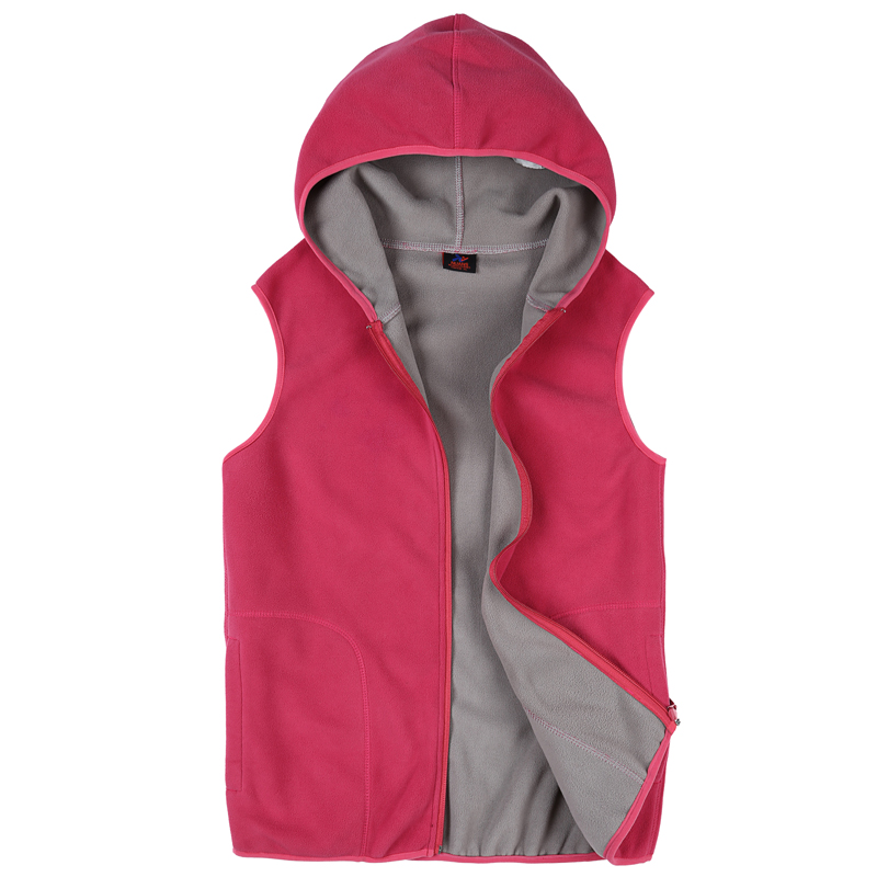 New waistcoat womens spring and autumn sleeveless vest cardigan fleece large size vest outdoor casual suit