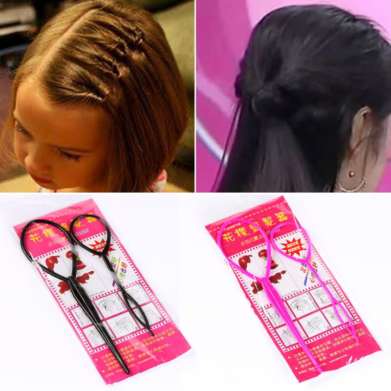 韩国发饰盘发器造型器工具套装长发变短发穿发针丸子头拉发针发型