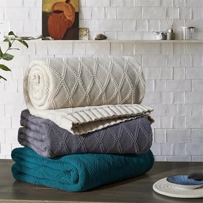 純棉蓋毯針織毯毛毯毛線毯子沙發毯辦公室毯午睡毯毛巾被夏空調毯