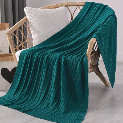 墨綠色沙發毯蓋毯ins北歐風針織毛線床尾毯裝飾搭巾午睡休閑毛毯
