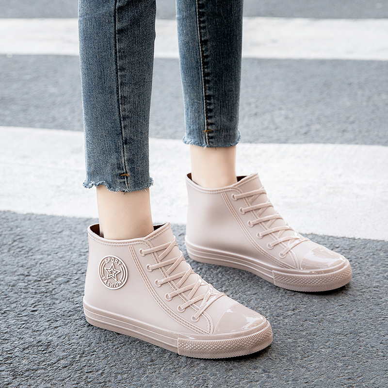 时尚外穿女士雨鞋胶鞋女短筒防水鞋防滑工作橡胶夏季雨靴柔软厨房