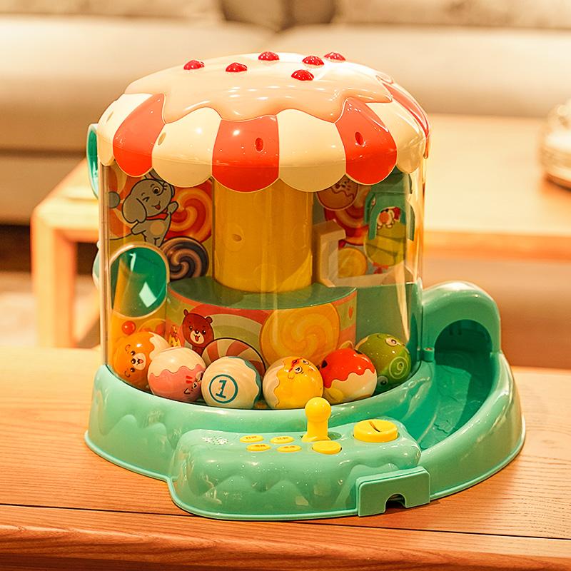 儿童抓娃娃机夹公仔机小型女孩益智游戏机家用迷你投币糖果机玩具