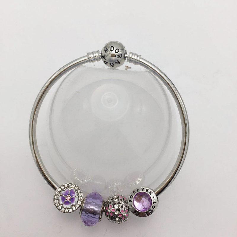 紫罗蓝琉璃系列女士魅力手镯 转运珠手镯