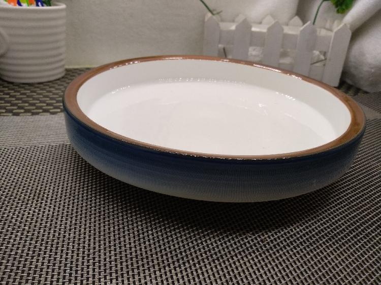 特色个性沙拉盘大号西餐盘网红盘子家用西式汤盘陶瓷圆形深口盘