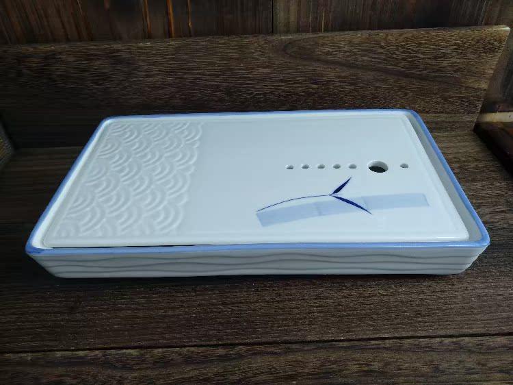 白色日式陶瓷圆形长方创意境分子料理刺身托盘火锅店干冰餐具器皿