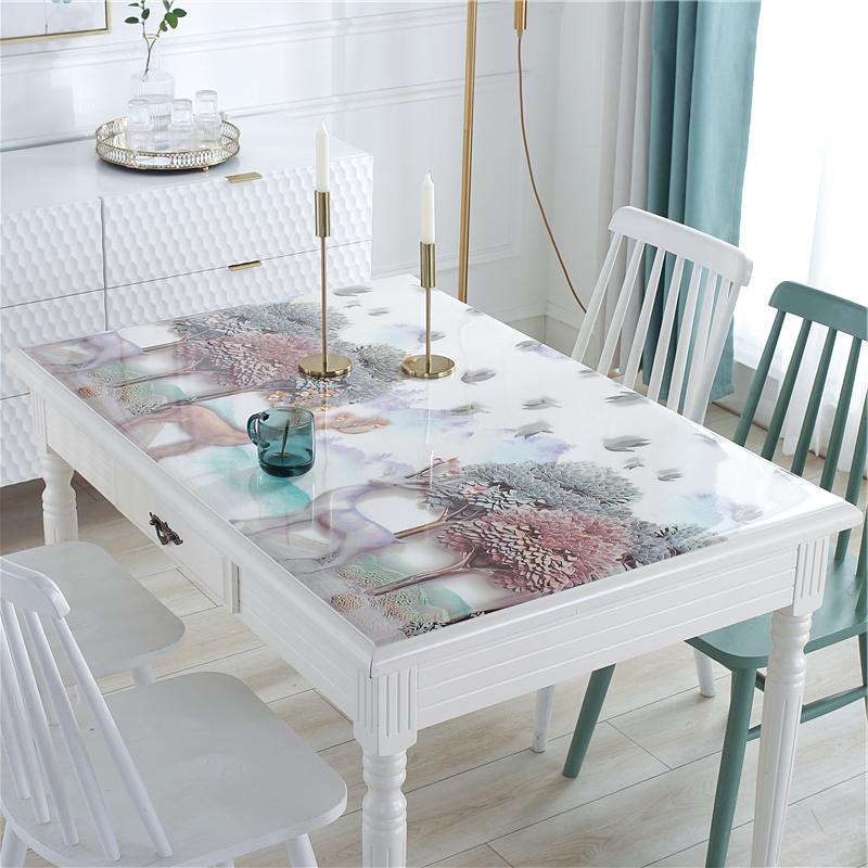 PVC桌布防水防烫防油免洗透明茶几垫子软塑料玻璃餐桌垫厚水晶板