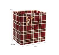 简约新款大塑料袋礼品袋手提式红米色格礼袋子服饰包装袋白卡纸袋
