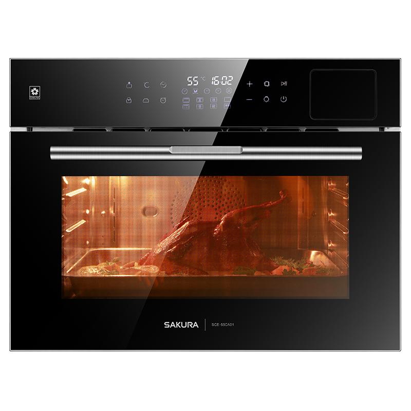 Sakura/樱花SCE-55CA01蒸烤箱家用 嵌入式蒸烤一体机嵌入式多功能