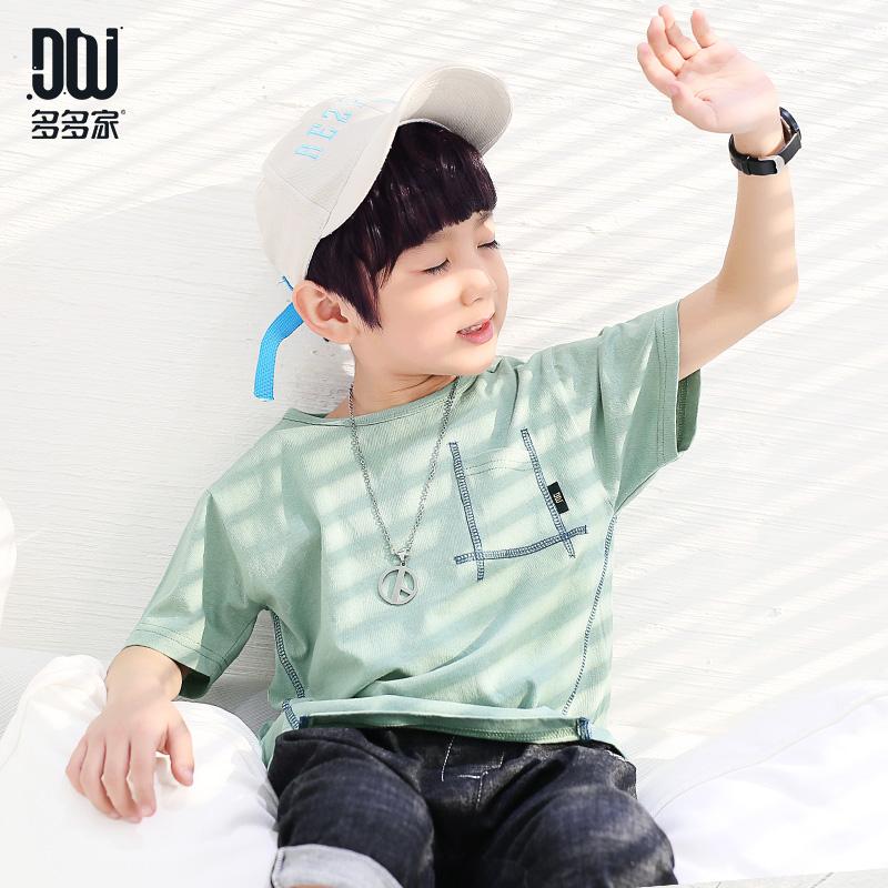 多多家童装男童韩版短袖t恤2018夏装中大儿童休闲半袖体恤潮童装