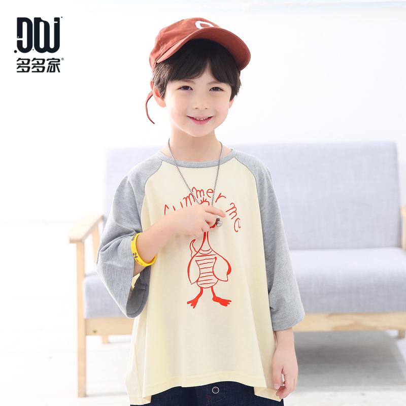 多多家童装男童宽松短袖体恤2018夏装新款潮衣中大童韩版洋气t恤