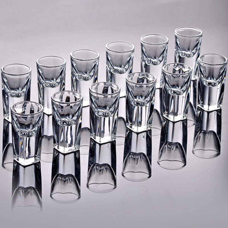 scybe喜碧酒杯玻璃白酒杯一口杯子弹杯烈酒杯分酒器家用酒具套装