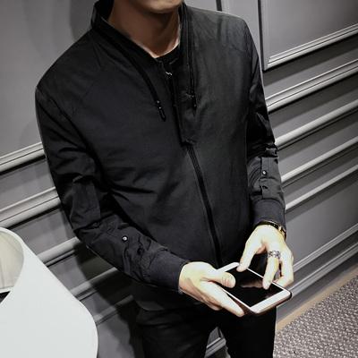 JK53#秋冬精品韩版修身立领夹克 独特设计个性潮男外套 潮 P115