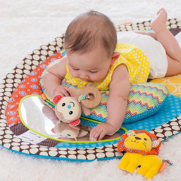 包邮 爬行游戏毯婴儿练习抬头趴趴枕新生儿宝宝益智玩具0-1岁