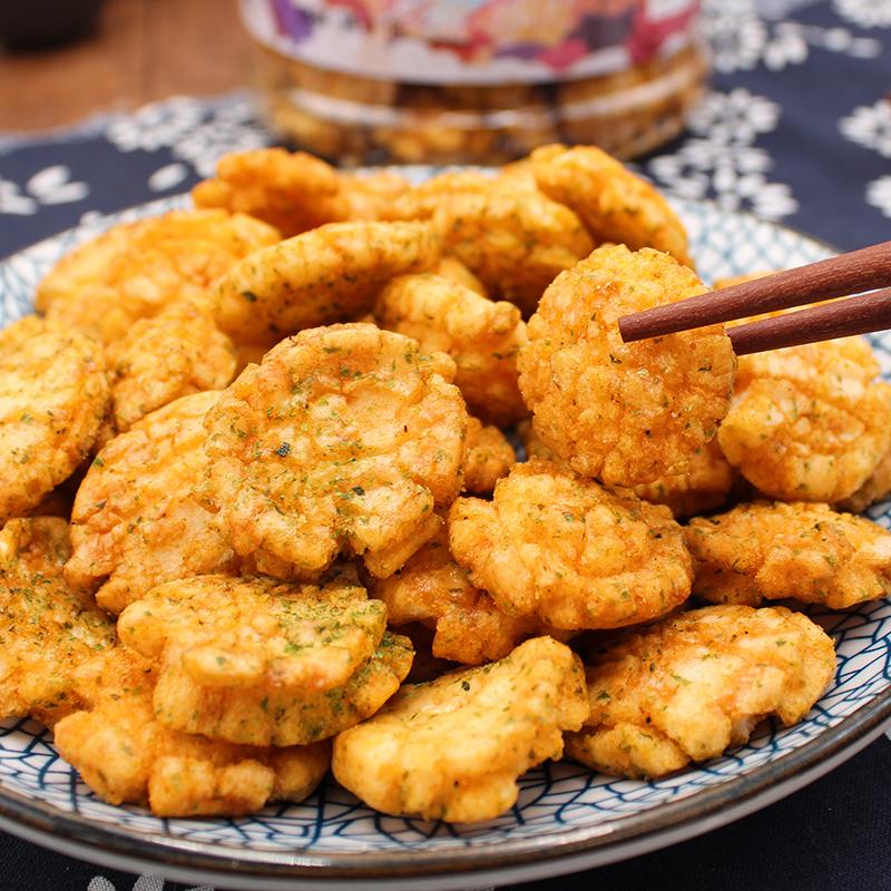 原味美食坊小小酥猫耳朵原味海苔味网红猫耳酥大丰休闲零食230g