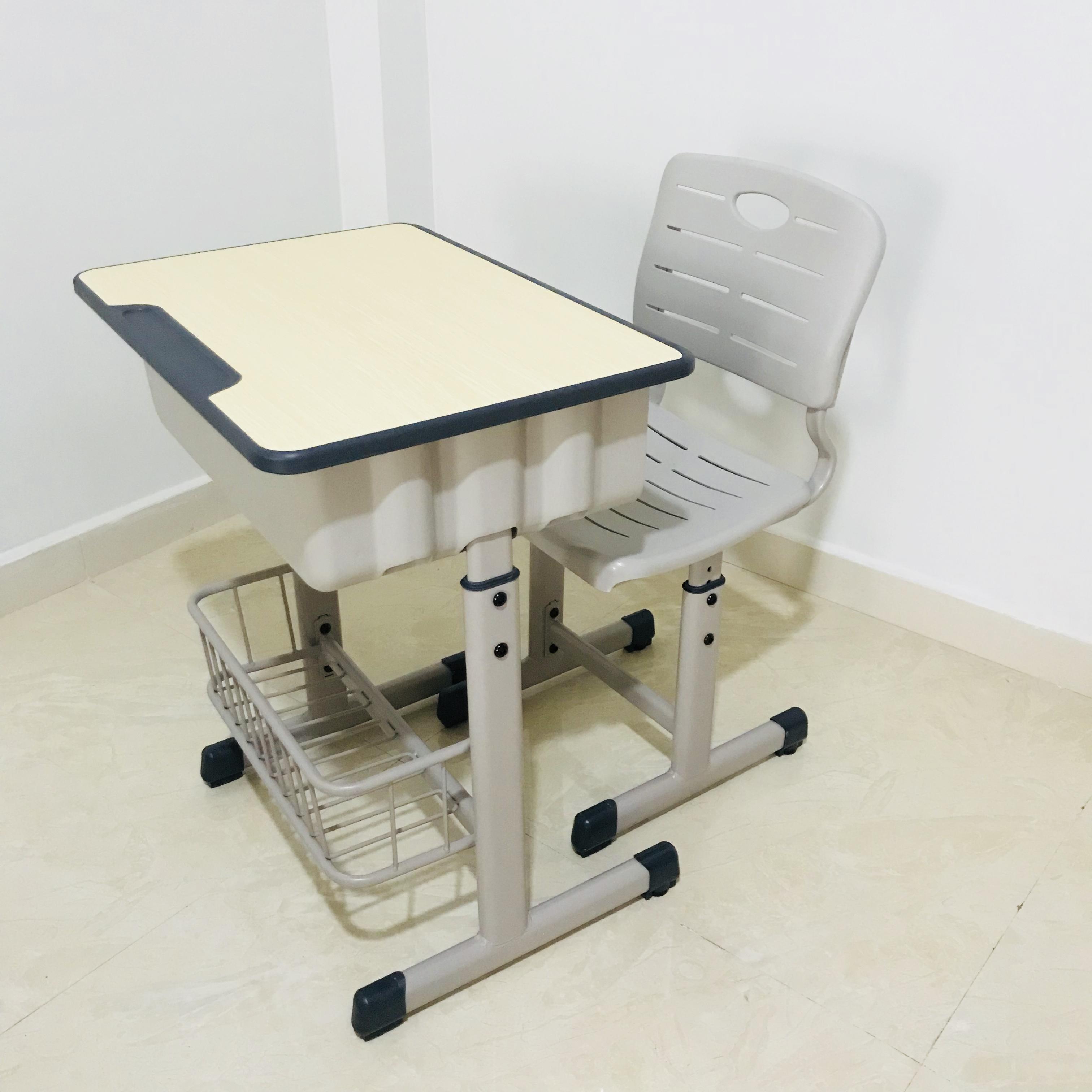 育才单人学生课桌椅学习写字台可升降书桌椅套装家用培训学校