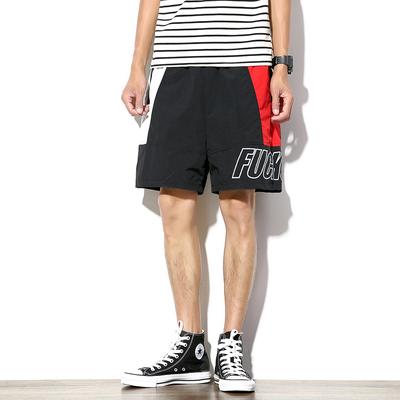 电商A033-K1702-P35 日系运动沙滩潮男短裤(黑色)【不低于48】