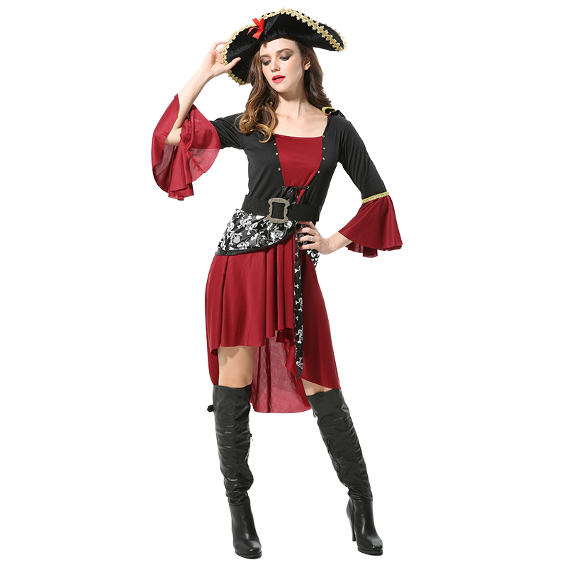 Halloween cosplay costume adult clothes Caribbean women pirates clothing bar DS party dress