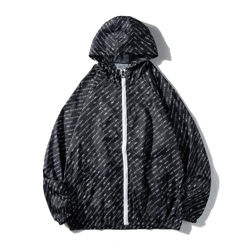 夏季夹克男超薄款冰丝皮肤衣学生防晒衣服情侣装外套2FS6019-P25